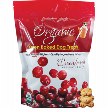 Grandma Lucy's Organic Oven Baked Dog Treats, Cranberry Flavor - 14 oz (397 Grams)