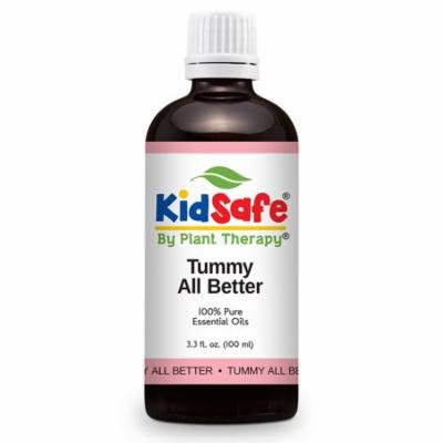 Plant Therapy KidSafe Tummy All Better Synergy Essential Oil Blend 100 mL (3.3 fl. oz.) 100% Pure, Undiluted, Therapeutic Grade