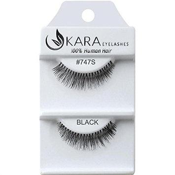 UKARA 100% Human Hair Natural False Eyelashes (#K-EL-747 S-12 Pack) Fake Lash Makeup