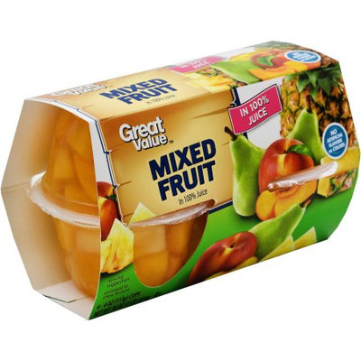 Great Value Mixed Fruit In 100% Juice