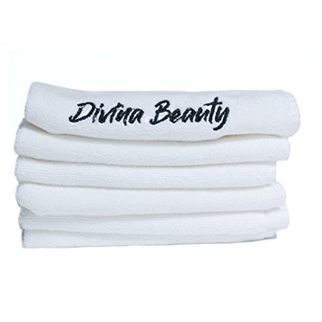 Divina Beauty Microfiber Face Washcloth Premium Makeup Remover Towel 6 Pack and Facial Skin Exfoliating Clean Remove Dead Skin Cells Antibacterial...