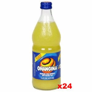 Orangina Sparkling Citrus Beverage CASE (24 x 16 oz Bottles)