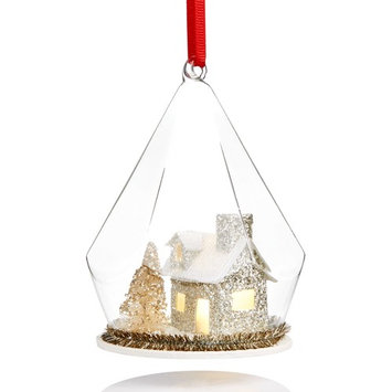 Light-Up House Under Glass Dome Ornament, Created for Macy's