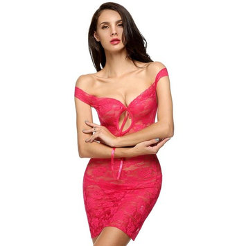 Christmas Clearance Avidlove Women Sexy Lady See-through Babydoll Sleepwear Lingerie Set Floral Lace Mini Night Dress + G-String WIMA