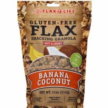 Flax4Life Gluten Free Flax Banana Coconut Snacking Granola, 11 oz, (Pack of 6)
