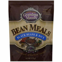 Grandma Mauds Black Beans & Rice Bean Meals, 6.2 oz, (Pack of 6)