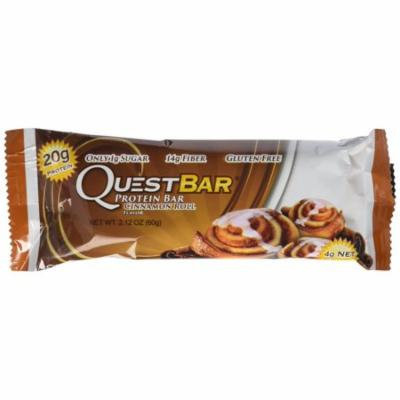 Quest Nutrition Natural Protein Bar, Cinnamon Roll, 2.1 oz. Bars,12 Count