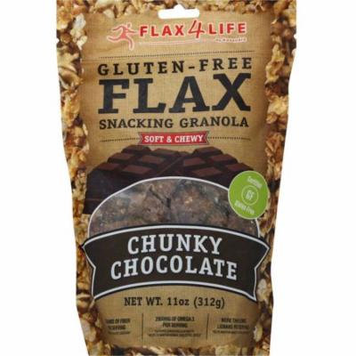 Flax4Life Gluten Free Flax Chunky Chocolate Snacking Granola, 11 oz, (Pack of 6)