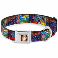 Dog Collar DYX-Belle CLOSE-UP Full Color - Beauty & the Beast Stained Glass Pet Collar