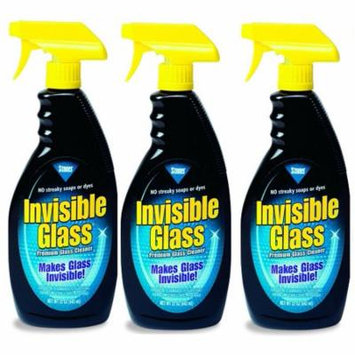 Stoner 92164 Invisible Glass Windshield and Mirror Cleaner - 22 oz. (3 Pack)