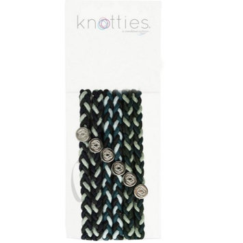 Condition Culture Girls Green Licorice Colored Knotties Braided Elastics