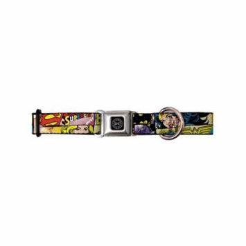 Justice League DC Comics Superheroes Retro Heroine Strips Seatbelt Pet Collar