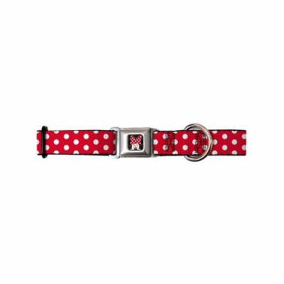 buckle-down dc-wdy090-l dybh mini minnie mouse face close dog collar, large 15-26