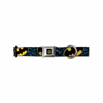batman dc comics superhero classic & blue shield collage seatbelt pet dog collar
