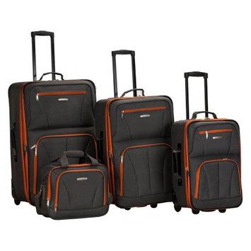 Rockland Luggage Journey 4 Piece Luggage Set - Charcoal