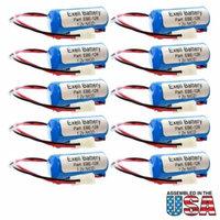 10pc Exit Light Battery for Lithonia ELB0300 ELB1P201N1 ELB1P201N1 WHITE MOLEX