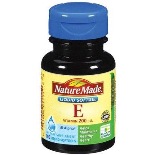 Nature Made dl-Alpha Vitamin E 200 IU Softgels 100 ea
