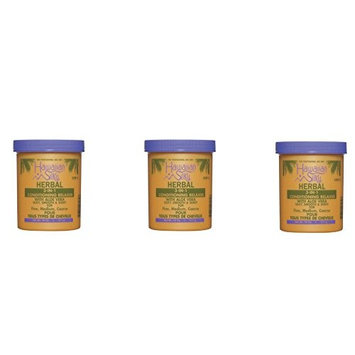 [VALUE PACK OF 3] HAWAIIAN SILKY HERBAL 3-IN-1 CONDITIONING RELAXER 18 OZ : Beauty