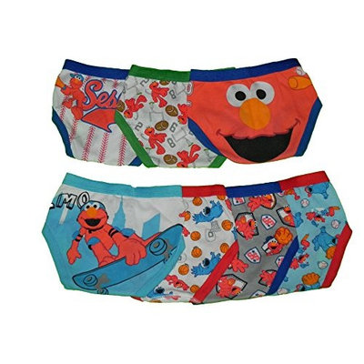 Sesame Street Elmo Toddler 7 Pack Boys Briefs - Sports (2T-3T)