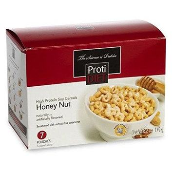 ProtiDiet Honey Nut Soy Cereals (7 pouches, net 6.2 oz) - High Protein Honey Nut Flavored Soy Cereals