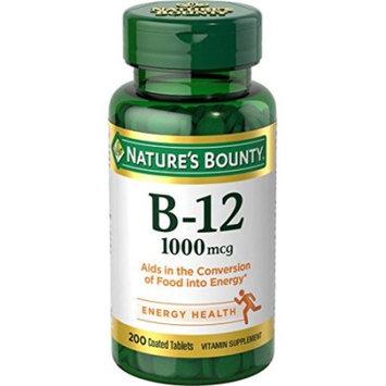 3 Pack - Nature's Bounty Vitamin B-12 1000 mcg, 200 Tablets Each