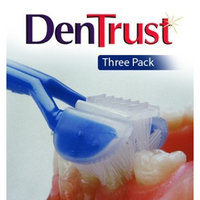 3 PACK :: DenTrust 3-Sided Toothbrush :: Soft :: Wrap-Around Design with Automatic 45 Degree Angle :: Made in USA