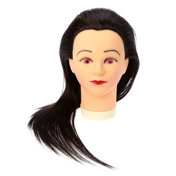 Anself 23 inch Cosmetology Hairdressing Training Head Salon Mannequin Training Head with Clamp