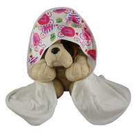 Blue Baby Bum 710560426454 Hooded Baby Towel Fairy Tale One Size - White & Pink