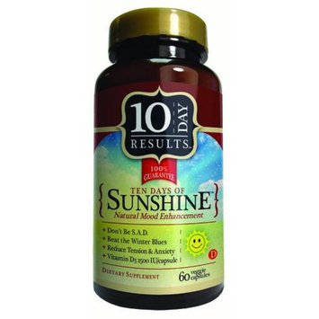 Ten Day of Sunshine, Natural Mood Enhancement, 60 Capsules, 10 Day Results