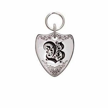 Rockinft Doggie 844587000400 Large Sterling Silver Crest Dog Tag - Letter B