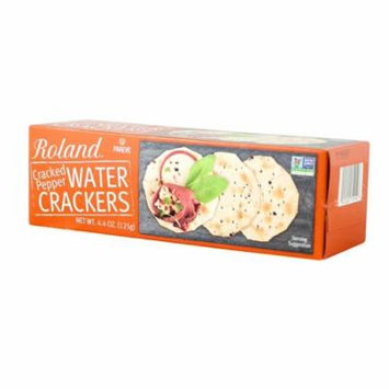 Roland Water Crackers, Cracked Pepper, 4.4 Oz