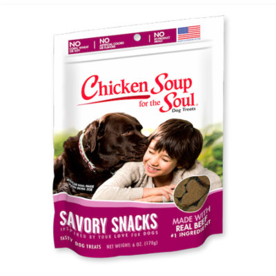 Chicken Soup for the Soul Savory Snacks Beef Dog Treats 6 oz