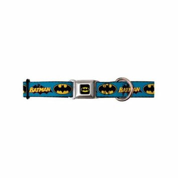 batman dc comics superhero blue back name & shield seatbelt pet dog cat collar