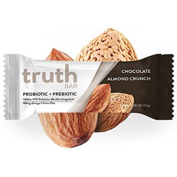 The Truth Bar Llc Truth Bar (Prebiotic + Probiotic) - Low Sugar, High Fiber, High Protein, Gluten Free, Tummy Soothing, Chocolate Almond Crunch (12 Pack)