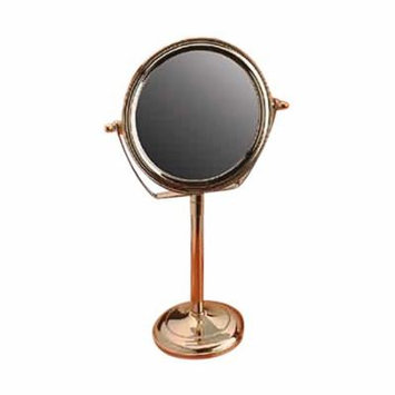 Table Makeup Mirror Solid Brass Swivel Magnifying Two Sided   Renovator's Supply