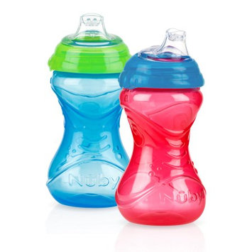 Luv N' Care, Ltd. Nuby 10oz Clik-It Cup with Silicone Spout 2 Pack, Boy Assortment