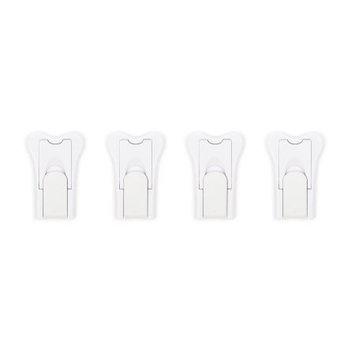 Jessa Leona Sliding Door Locks for Baby Proofing, Keyless Design For Patio, Closet, Shower Sliding Doors, Shutters; more No Tools Install (4 Pack, White)