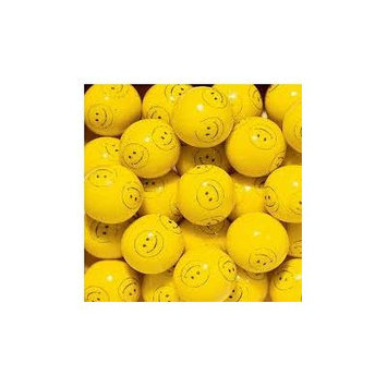 Concord Confections Yellow Smiley Face One Inch Gumballs, (Pack of 850)