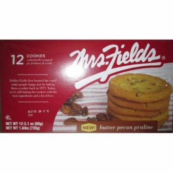 Mrs Fields Butter Pecan Praline Cookies, (Pack of 12)
