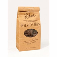 Asher's Dark Chocolate Covered Potato Chips 7.5 Ounce Bags, (Pack of 12)
