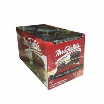 Mrs Fields White Fudge Brownie Cookies, (Pack of 12)