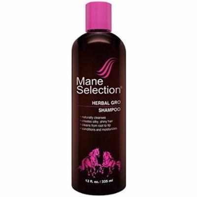 Mane Selection Herbal Gro Shampoo 12 oz. (Pack of 4)