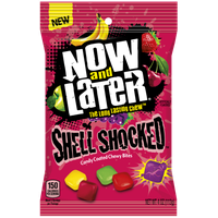 Ferrara Candy Company Now; Later Shell Shocked Candy, Mixed Fruit, 4 Ounce Bag