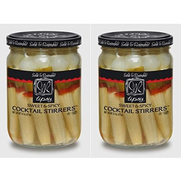 Sable & Rosenfeld NEW All Natural, GMO-Certified Tipsy Cocktail Stirrers, Sweet and Spicy, 16 oz