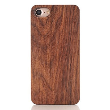 iPhone 7 Case, [4.7 inch]LUNIWEI Protect Pattern Carved Wood Wooden Hard Case Cover