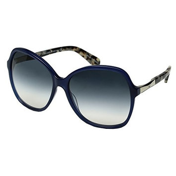 Kate Spade Women's Jolyn Square Sunglasses, Blue Gold/Blue Gradient Pea, 58 mm
