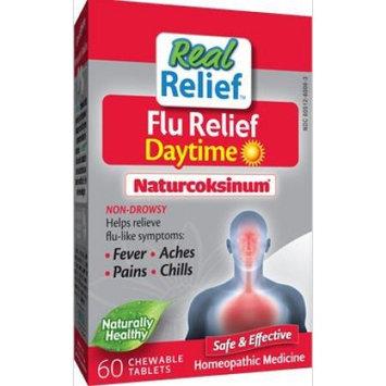 Homeolab USA - Real Relief Flu Daytime Naturcoksinum - 60 Chewable Tablets
