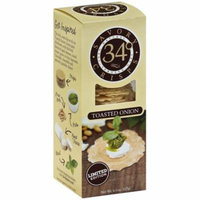 34 Degrees Toasted Onion Crisps, 4.5 oz, (Pack of 18)