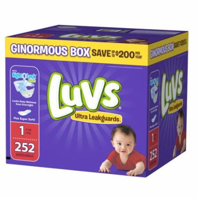 Luvs Ultra Leakguards Newborn Diapers Size 1 252 count