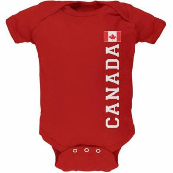 World Cup Canada Red Soft Baby One Piece